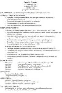 resumes for school resume for a secondary susan ireland resumes