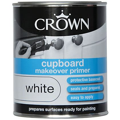Homebase Cupboard Paint by Crown Cupboard Makeover Primer 750ml
