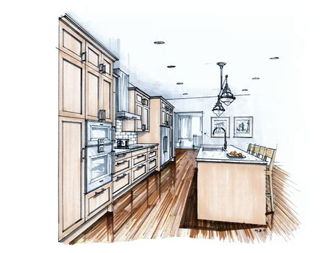 Kuche Zeichnung by More Recent Kitchen Renderings Mick Ricereto Interior