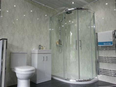 white marble bathroom cladding panels grey gloss