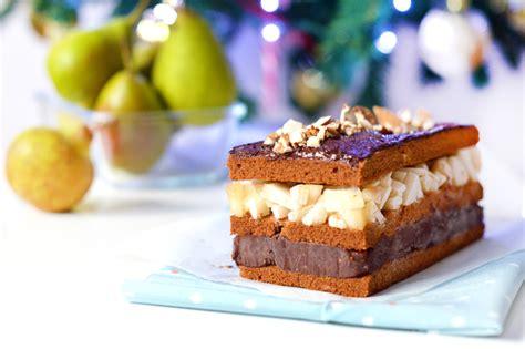 dessert de no 235 l b 251 che fa 231 on millefeuilles poire amande chocolat vegan sans gluten sweet