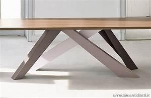 Tavolo fisso Big Table gambe colorate DIOTTI A&F Arredamenti