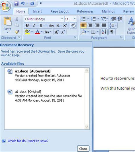 recover  microsoft word document   crash