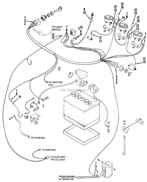 toro 81 16os01 d 160 automatic tractor 1978 parts diagram for wiring harness component parts