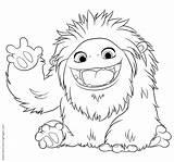 Yeti Coloring Abominable Printable Film Ninjago Animation Kleurplaat Template sketch template