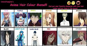 Anime hair color quiz quotev