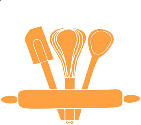 cooking utensils clipart orange kitchen utensils clip at clker vector