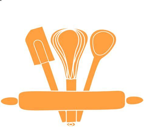 Orange Kitchen Utensils Clip Art at Clker.com   vector