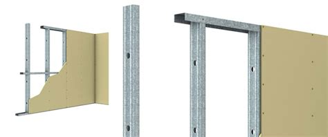 steel stud track wall framing system for internal