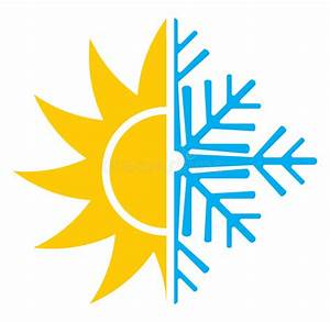 Air Conditioning Icon - Summer Winter Stock Vector