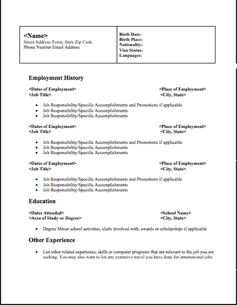 Downloadable Resume by Free Resume Downloads Free Resume
