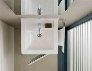 salle de bains les elements gain de place solutions With salle de bain gain de place