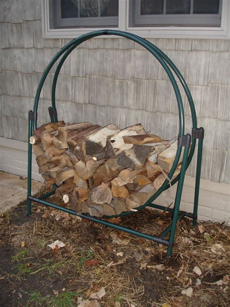Black Metal Portable Outdoor Firewood Rack For Small Backyard Spaces Ideas