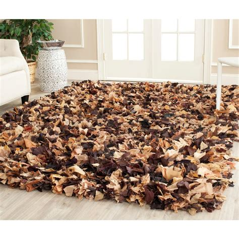 Brown Shag Area Rug by Safavieh Shag Brown Multi 5 Ft X 8 Ft Area Rug