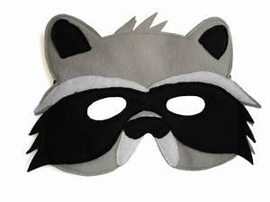 children39s woodland animal raccoon felt mask With woodland animal masks template