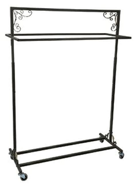 Decorative Rolling Garment Racks by Rolling Garment Rack Decorative Clothing Rack