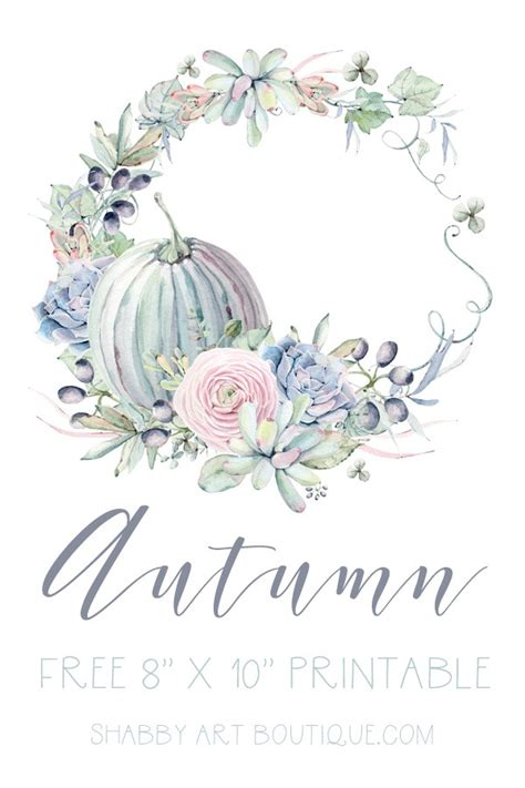 Free Printable For Autumn And Fall  Shabby Art Boutique