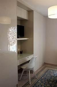 Meuble Mural Chambre : placards tv bureau un pan de mur en placard pinterest placard tv et bureau ~ Melissatoandfro.com Idées de Décoration