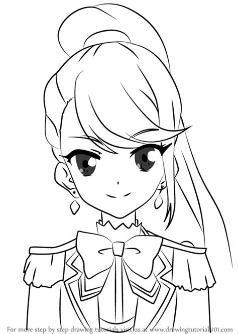 learn   draw tsubasa kisaragi  aikatsu stars