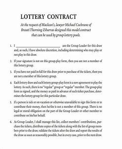 lottery syndicate agreement template word 28 images With group lottery contract template