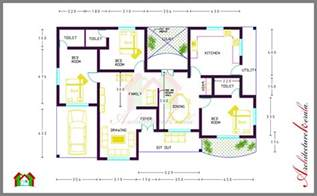 floor plans with measurements 3 bed room house plan with room dimensions architecture kerala