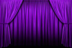 A peek behind the purple curtain lent madness for Purple stage curtains