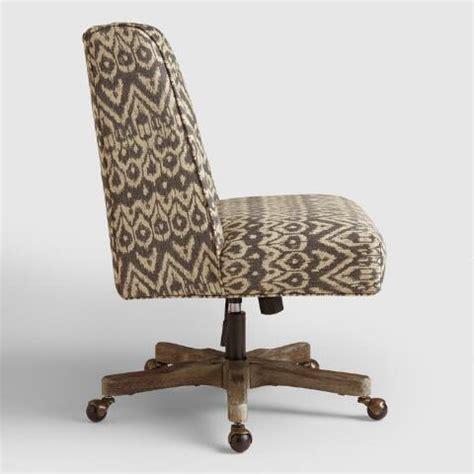 driftwood ikat upholstered office chair world market
