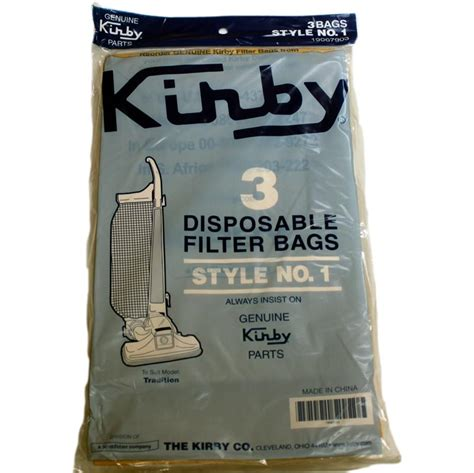 Kirby Style 1 Tradition 3cb 3 Pack Vacuum Bags 190679s