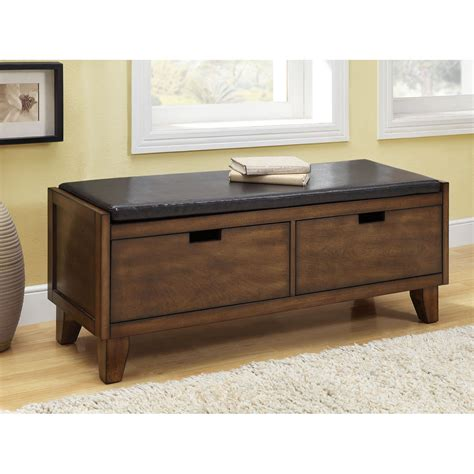 Benches With Drawers by Walnut Solid Wood Bench With Drawers Free Shipping