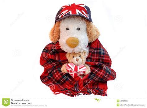 le frontale vieux ceur le vieux anglais de chien et ours de nounours avec londres aiment le coeur photo stock image