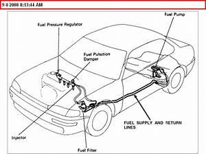 Gas Leak Around Drivers Side Rear Door Bottom 91 Camry