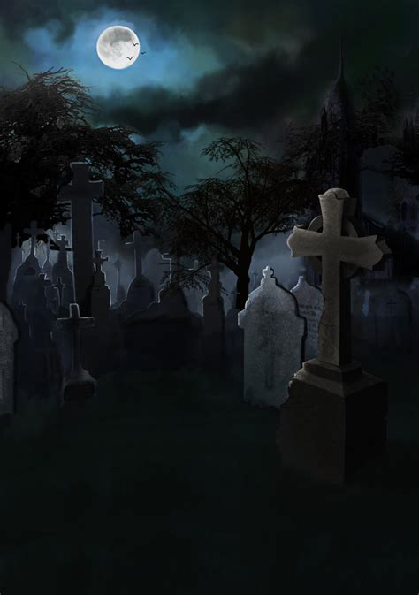 Graveyard Nightmare Before Background Images by Graveyard Moonlight By Missimoinsane On Deviantart