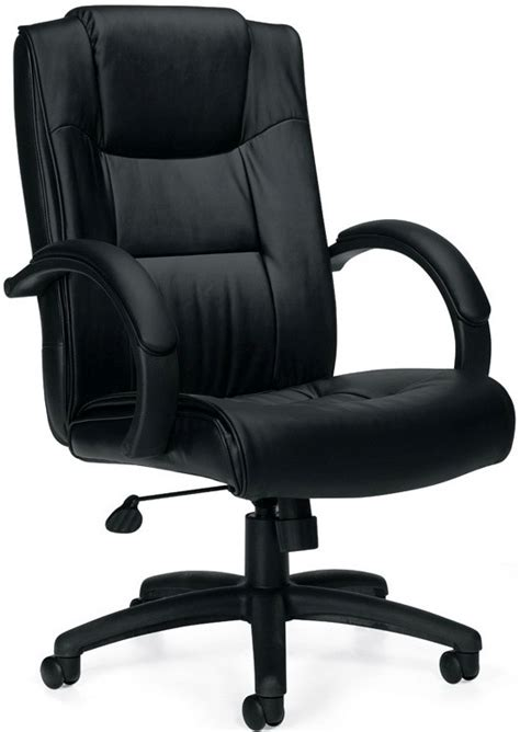 offices to go 11618 high back black leather swivel desk chair