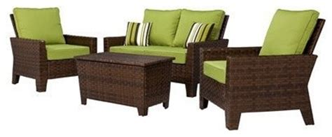 belmont 4 brown wicker patio thick woven