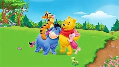 Pooh Cartoon Winnie Desktop Friends Screen Friendship