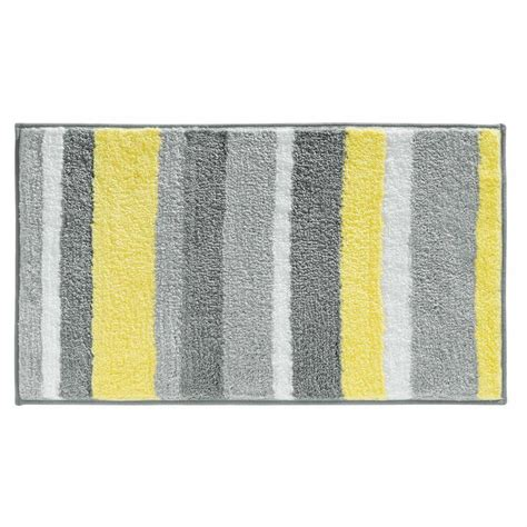 interdesign stripz microfiber bath rug