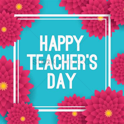 Happy Teacher's Day Design Vector Image  2007048 Stockunlimited
