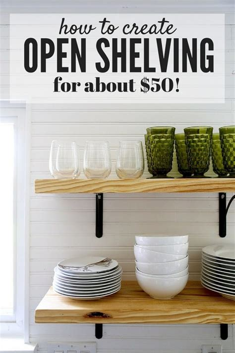 Built In Open Kitchen Shelving by Diy Open Shelving A Tutorial Renovations