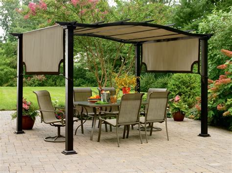 Small Outdoor Canopy by Garden Oasis 8 Ft X 10 Ft Curved Pergola Canopy Home