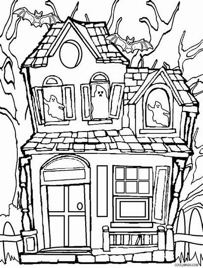 Haunted Coloring Pages Scary