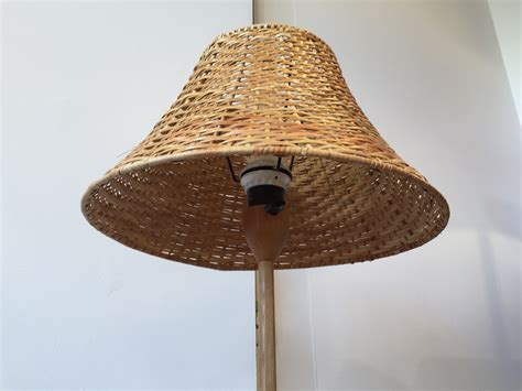 abat jour tambour suspension ladaire en ch ne et rotin luxus su de 60 s