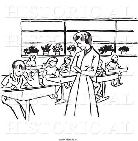 14692 student clipart black and white student classroom clipart 43