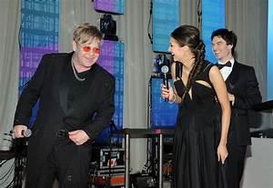 She laughs with Elton John. - Nina Dobrev's Celebrity ...
