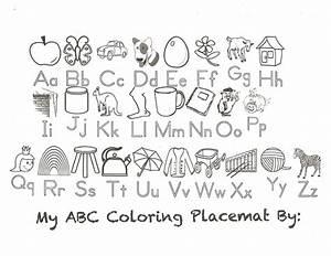abc color page - abc coloring placemat preschool pinterest placemat