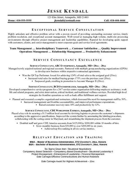 Sales Consultant Resume Sample