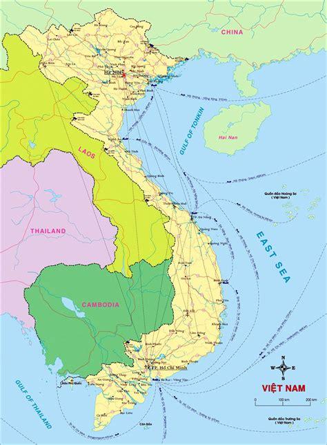 vietnam maps printable maps  vietnam