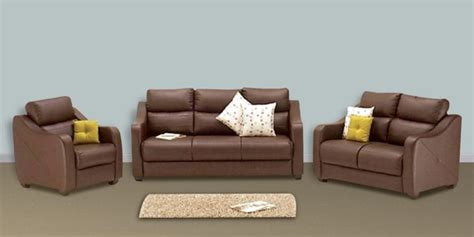 Sofa Sets With Price by Buy Vida Sofa Set 3 2 1 Seater In Burgundy Colour By