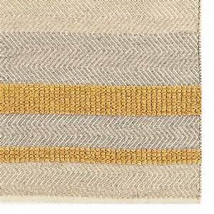 tapis contemporain jaune gris beige en laine coton et viscose With tapis laine contemporain
