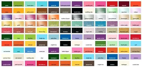 color reference charts model master map acrylic paint