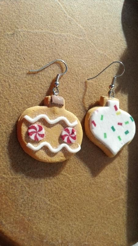 gingerbread christmas ornaments earrings hand made in usa